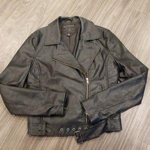 True Religion Leather Moto Jacket